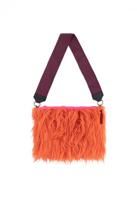 Bag 3003 in coral faux fur