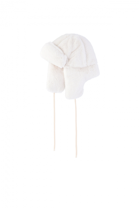 Hat 3004 in white faux fur