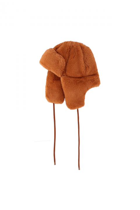 Hat 3004 in terracotta faux fur