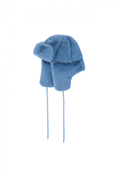 Hat 3004 in blue faux fur