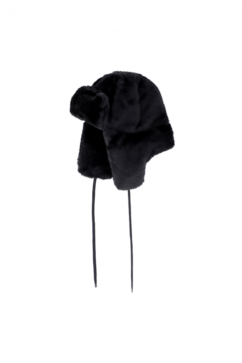 Hat 3004 in black faux fur
