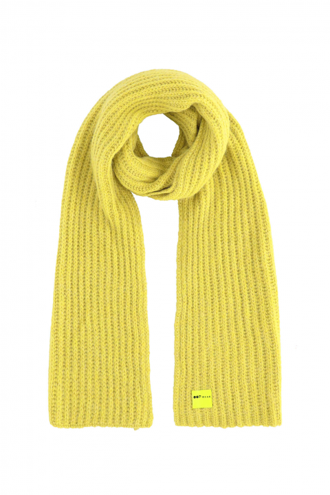Scarf 3008 in yellow wool blend