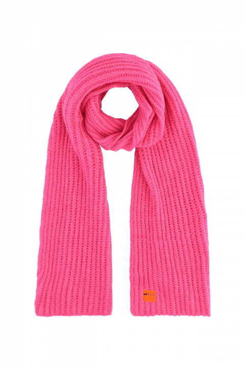 Scarf 3008 in pink wool blend
