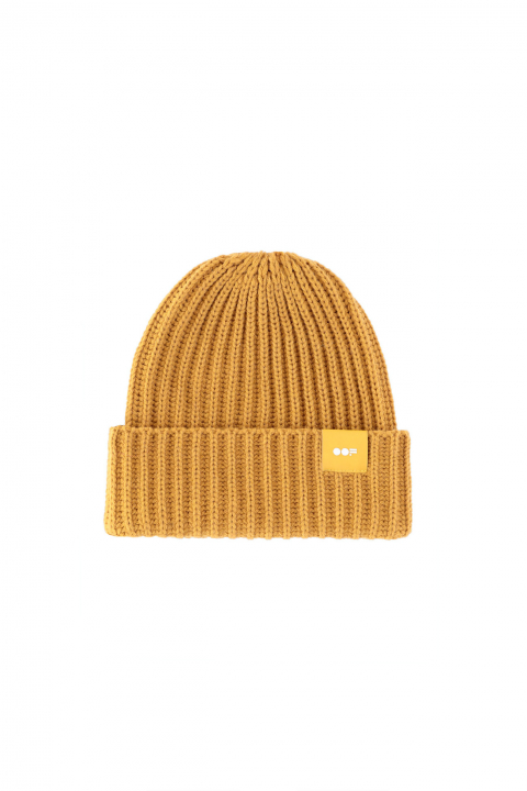 Beanie 3013 in mustard ribbed wool