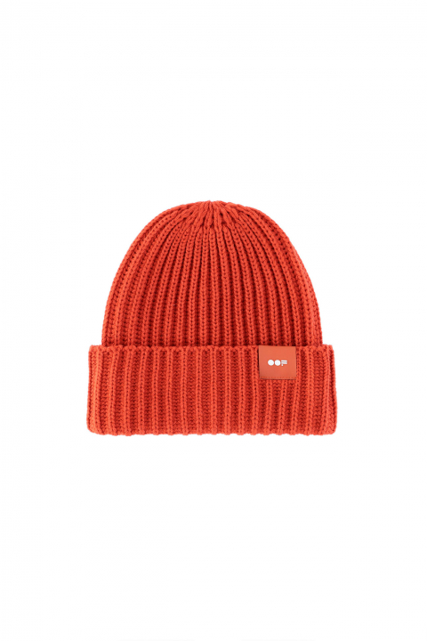 Beanie 3013 in rust ribbed wool