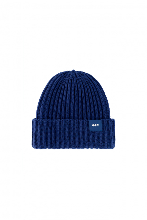 Beanie 3013 in electric blue ribbed wool
