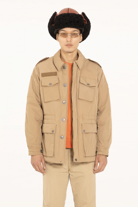 Men's short safari jacket 5003 in beige memory