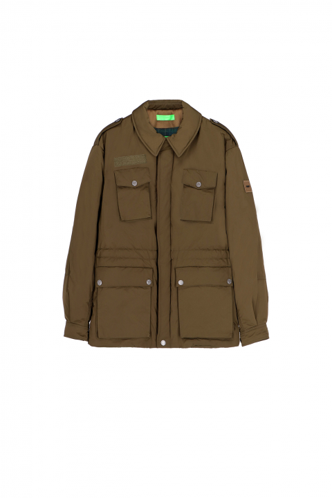 Men's short safari jacket 5003 in green memory