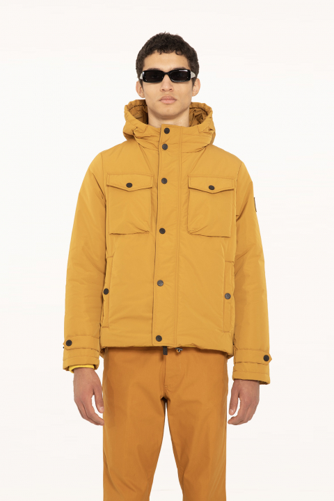 Short jacket 5320 in ochre polyester