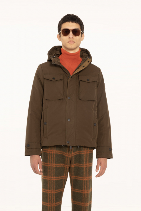 Short jacket 5320 in green polyester