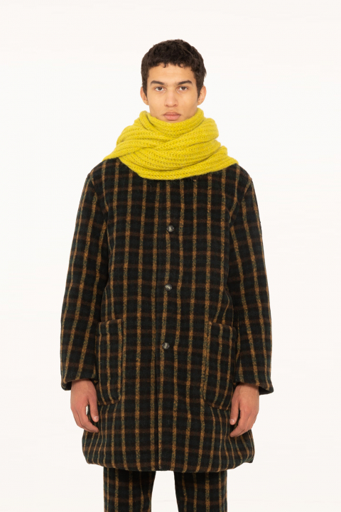 Raincoat 5600 in check wool blend and memory