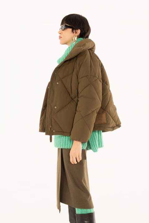 Padded jacket 9000 in green nylon
