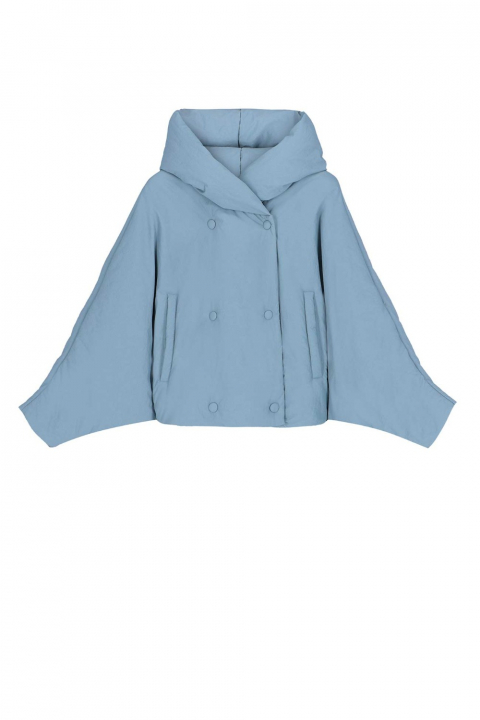 Short jacket 9001 in sugar paper blue nylon