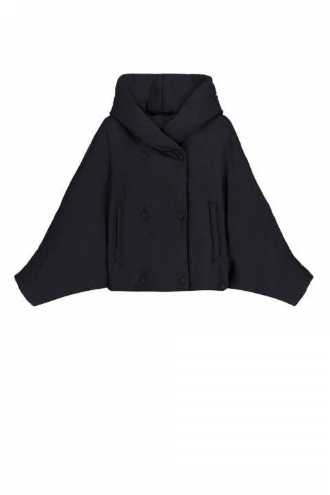 Short jacket 9001 in black nylon