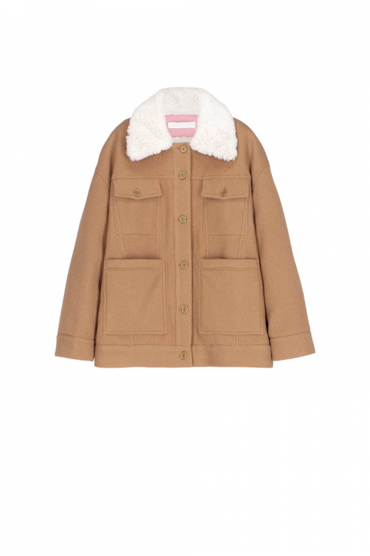 Short jacket 9003 in tobacco wool blend