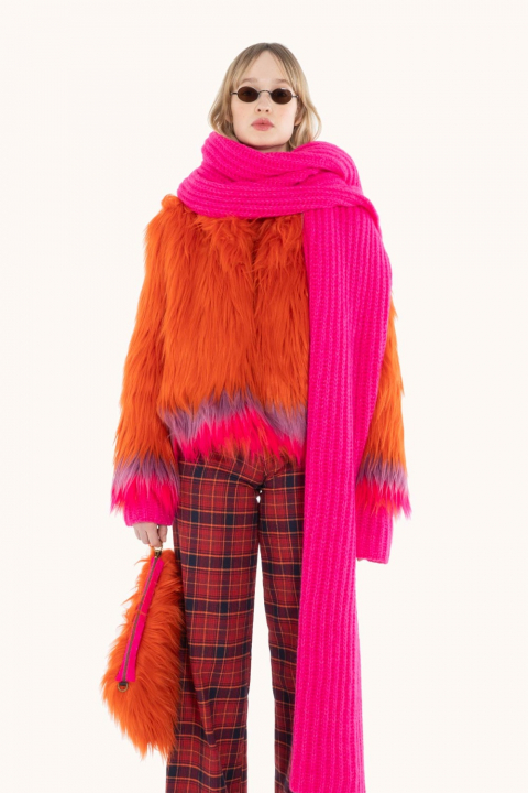 Short Faux Fur 9005 coral