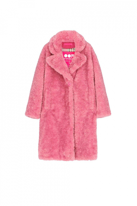 Oversize Faux Fur Coat 9010 pink