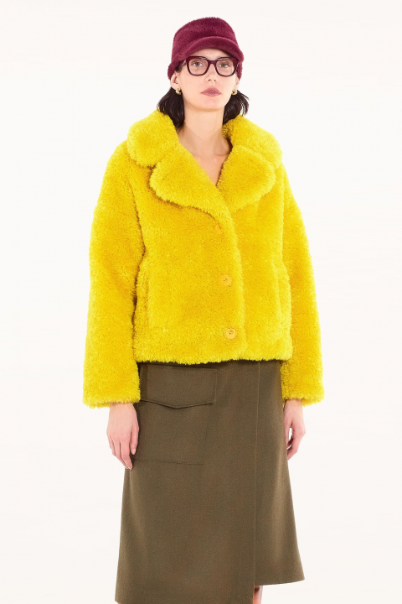 Short Faux Fur 9011 yellow