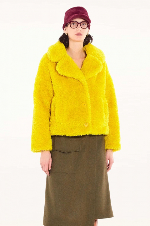 Short Faux Fur 9011 yellow