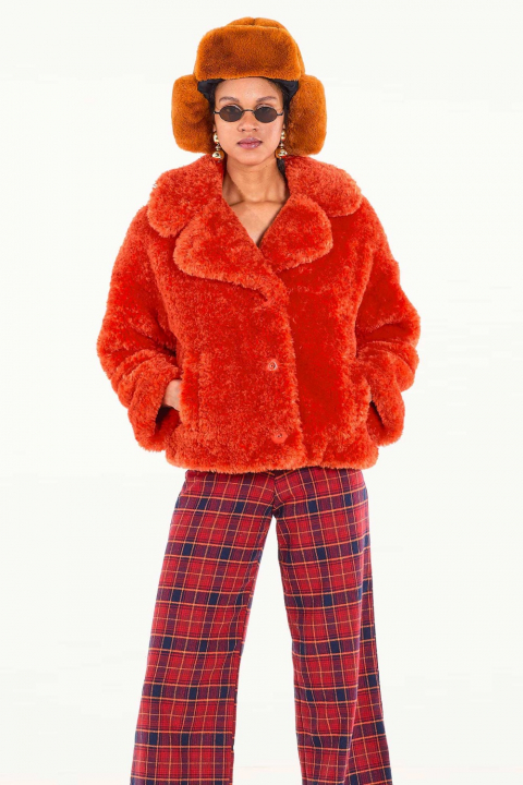 Short Faux Fur 9011 peach