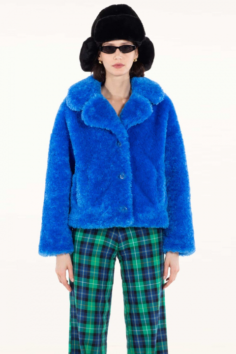 Short Faux Fur 9011 blue