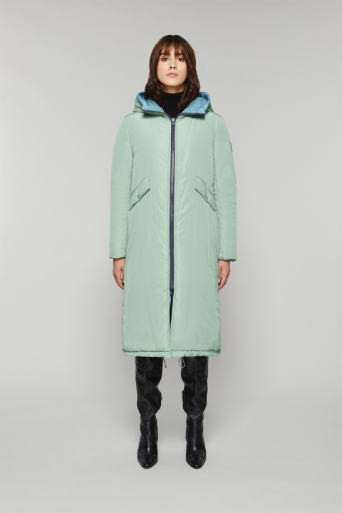 Long Parka 9280 in cerulean/aquamarine nylon