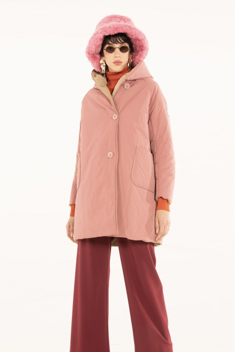 Parka 9410 in powder/camel shape memory fabric