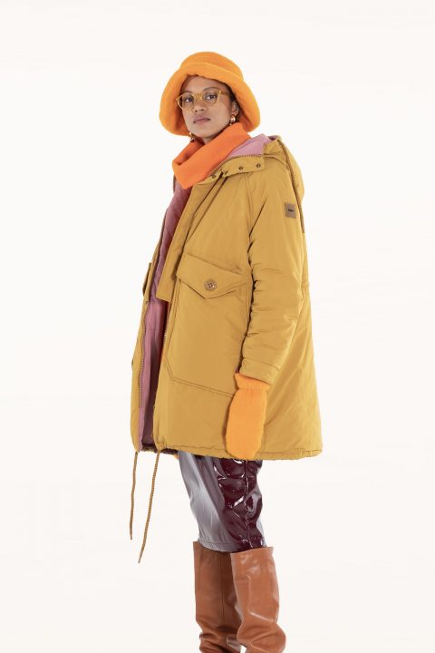 Oversized Parka 9500 in ochre/powder polyester