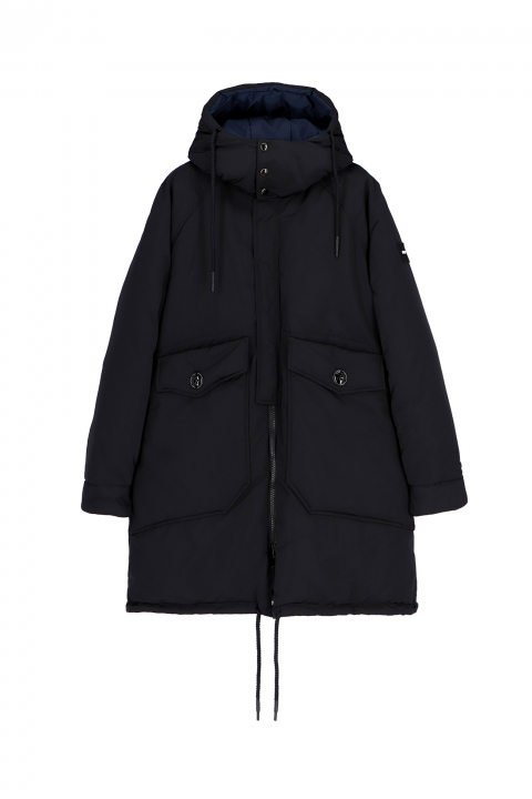 Oversized Parka 9500 in black/blue polyester