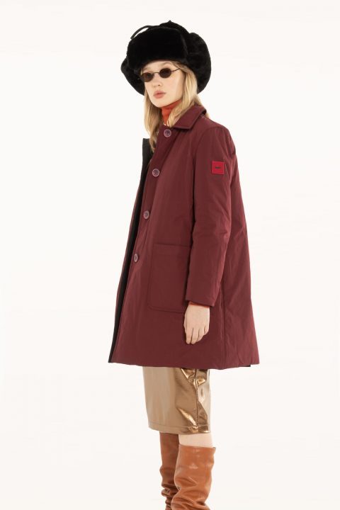 Raincoat 9600 in plum/black shape memory