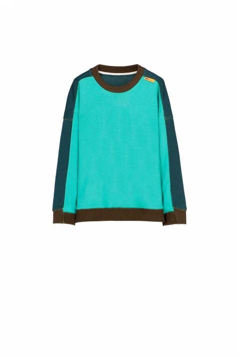 Sweatshirt 4002 in turquoise cotton blend