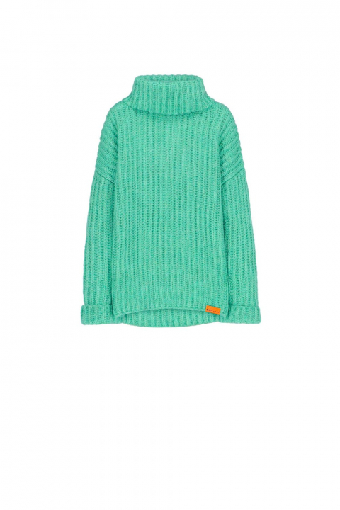 Sweater 4003 in aquamarine wool blend