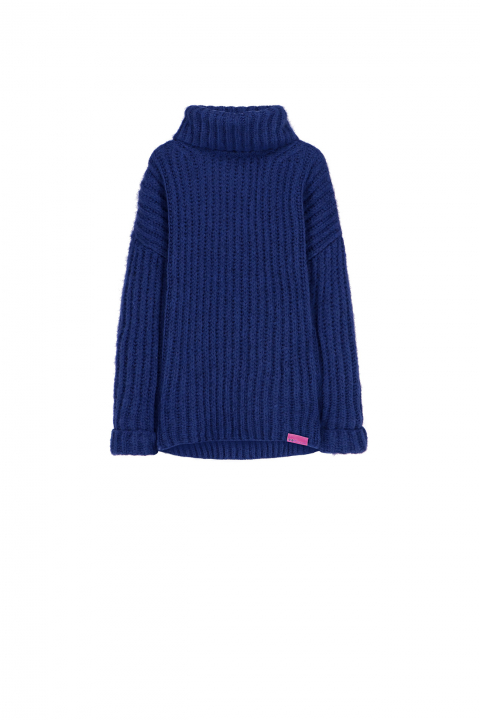 Sweater 4003 in blue wool blend