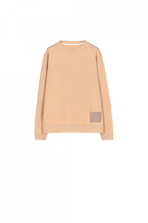Sweatshirt 4000 in beige cotton blend