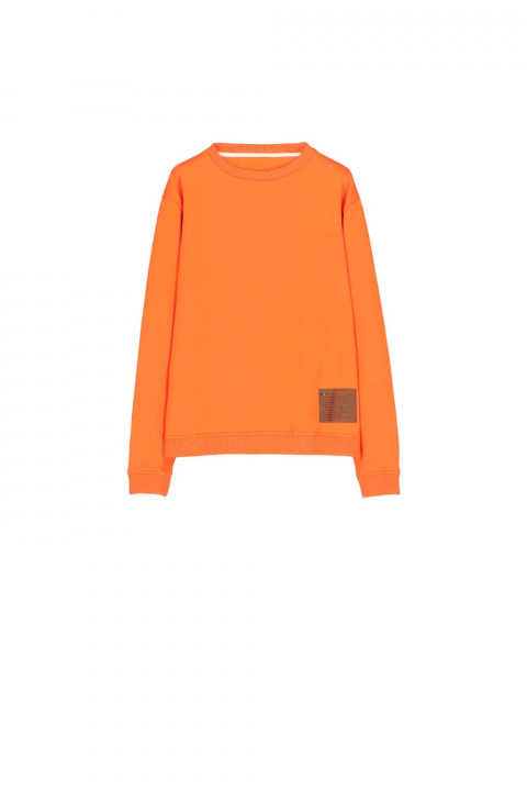 Sweatshirt 4000 in orange cotton blend