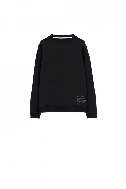 Sweatshirt 4000 in black cotton blend