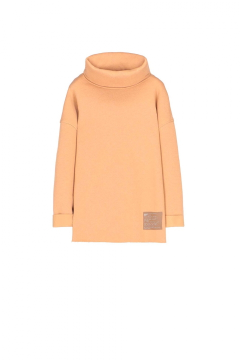 Sweatshirt 4001 in camel cotton blend