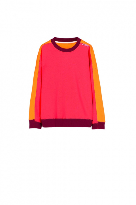 Sweatshirt 4002 in fuchsia cotton blend