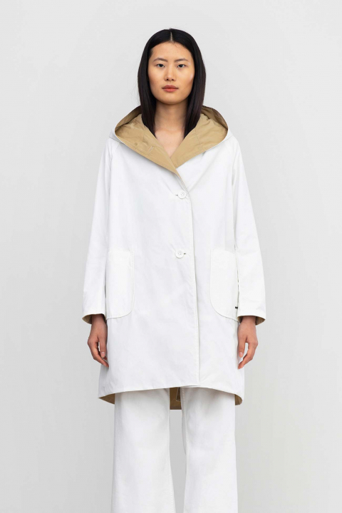 Reversible parka 9410 in memory white/rope