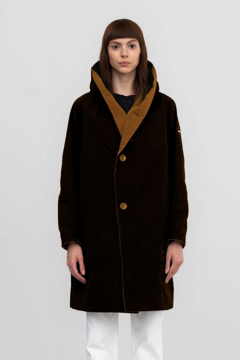Reversible parka 9410 in memory black/tobacco