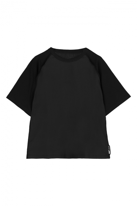 T-shirt 7000 in cotton and popeline black