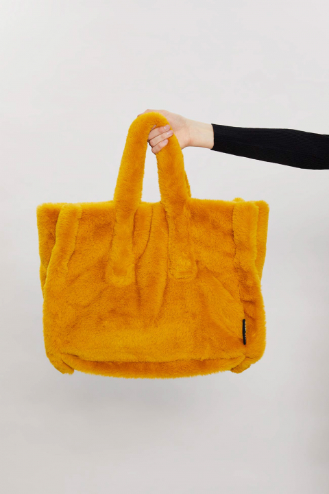 TOTE BAG IN FAUX FUR 3029 - SUNFLOWER