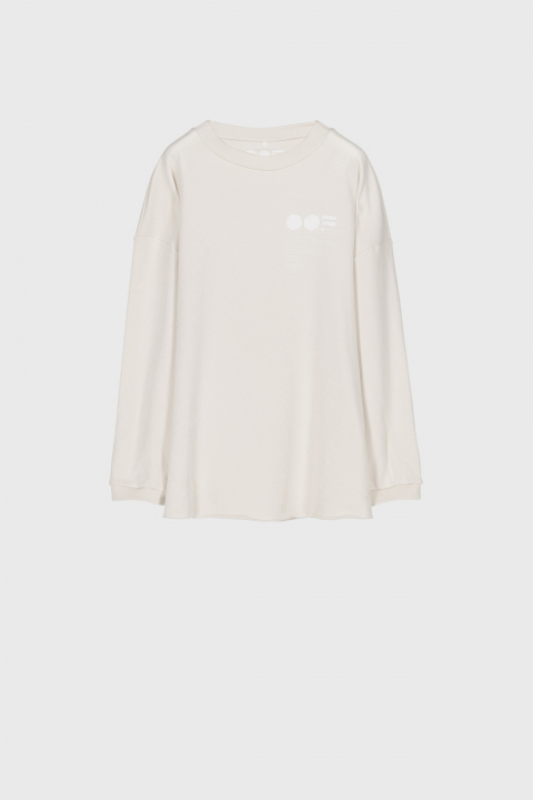 Women's oversized sweatshirt in cream cotton