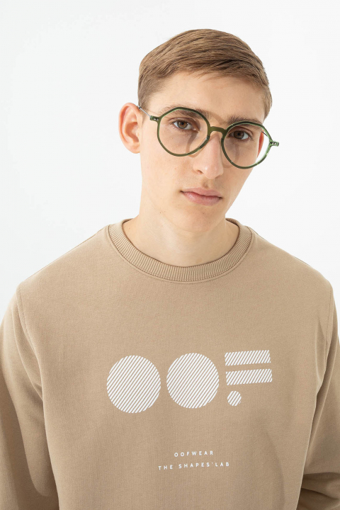 Men's cotton sweatshirt in beige