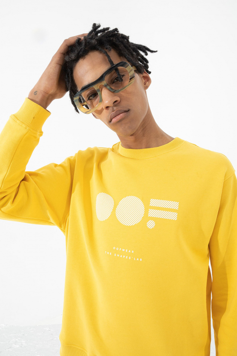Men's cotton sweatshirt in yellow