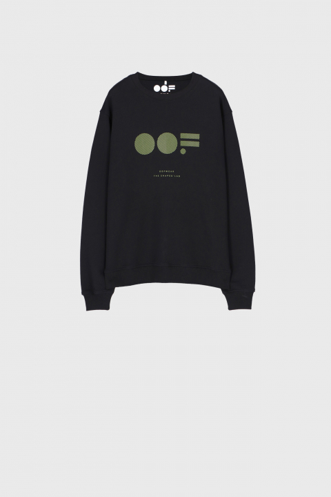 Men's cotton sweatshirt in black