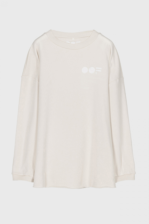Women's oversized sweatshirt in cream cotton