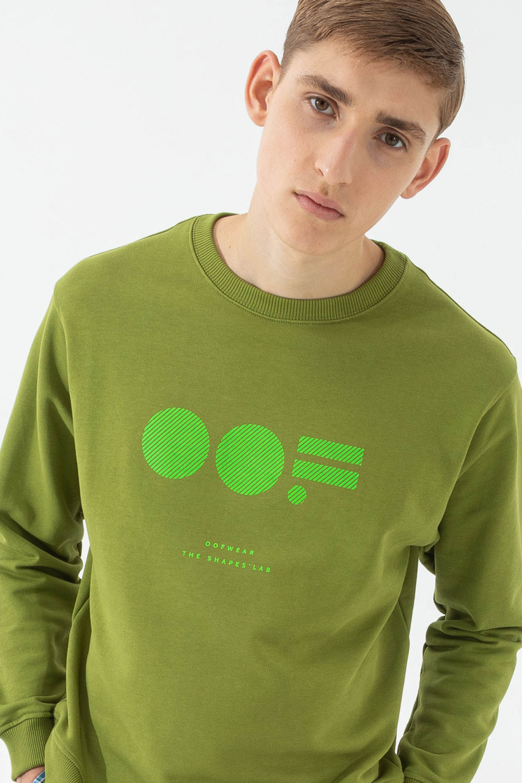 Men's cotton sweatshirt in green