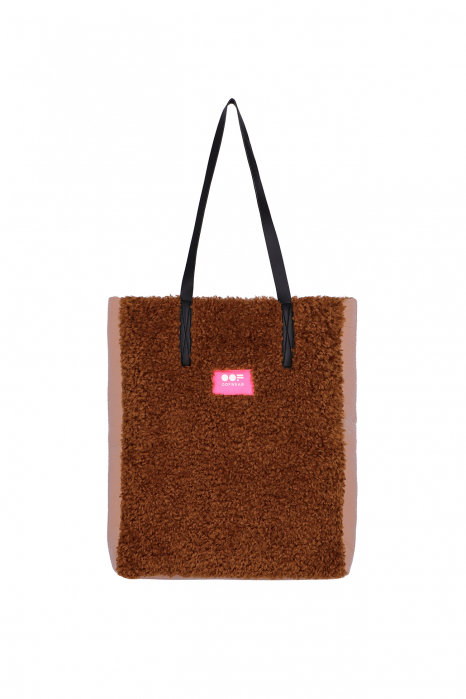 Bag 3002 in rose eco-sheepskin
