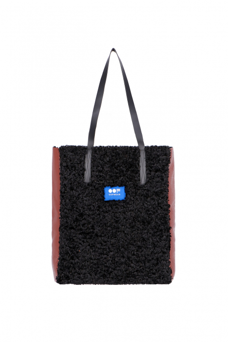Bag 3002 in brick eco-sheepskin